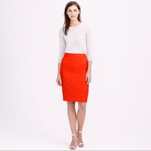 J crew red pencil skirt